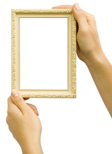 Framework In Hands Royalty Free Stock Photo