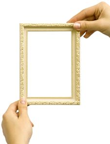 Framework In Hands Royalty Free Stock Image