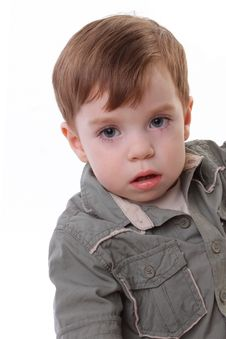 Free Little Boy Isolated On White Stock Image - 15516821