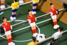 Tabletop Soccer Royalty Free Stock Photos
