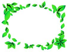Free Green Leaves Frame Stock Photo - 15517170