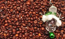 Free New Year S Decorations On The Coffee Beans Stock Images - 15518284