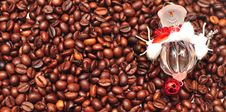 Free New Year S Decorations On The Coffee Beans Royalty Free Stock Photo - 15518325