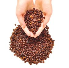 Free Female Hands Full Of Coffee Beans Stock Images - 15518344