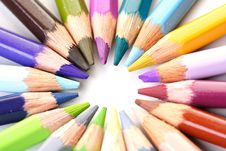Free Color Pencils Royalty Free Stock Photography - 15518357