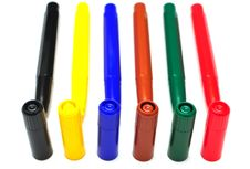 Multicolored Felt Pens Stock Photos