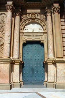 Free Ornate Monastery Door Stock Image - 15519301