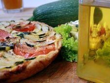 Zucchini Pie 2 Stock Photos