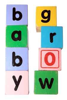 Free Baby Grow Block Letters With Clipping Path Stock Photos - 15519823