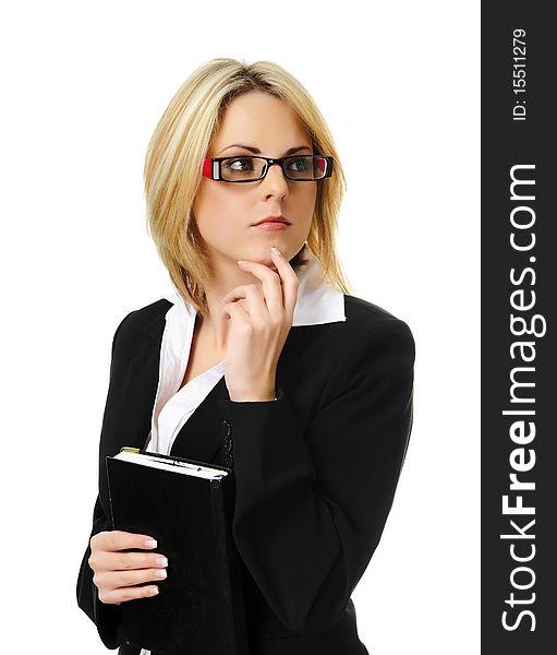 Pretty blonde business woman