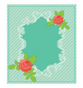 Free Vintage Card With Roses Royalty Free Stock Photography - 15523347