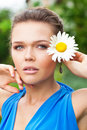 Free Lady With Chamomile Stock Photo - 15524580