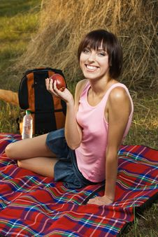 Free Lovely Girl On Picnic Royalty Free Stock Photography - 15520097