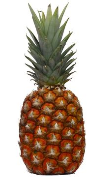 Free Ripe Ananas White Background Stock Photography - 15520102