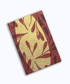Notebook Red Book On White Background Stock Images