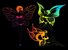 Free Pretty Girl With Butterfly Wings Royalty Free Stock Photos - 15520358