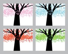 Free Abstract Trees Set Stock Photography - 15521442