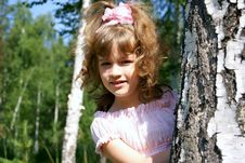 Free The Girl At A Birch Stock Photography - 15521652