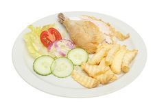 Chicken Salad With Chips Royalty Free Stock Photos