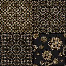 Four Seamless Backgrounds Stock Photos
