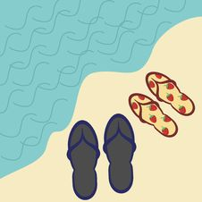 Free Two Pairs Of Beach Sandals Stock Images - 15522624