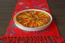 Free Paprika Pie On The Red Linen Stock Photos - 15523143