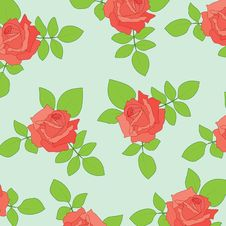 Free Nice Seamless With Roses Stock Photography - 15523352