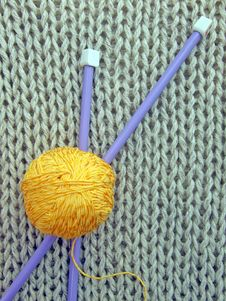 Free Wool And Needles Stock Photos - 15523763