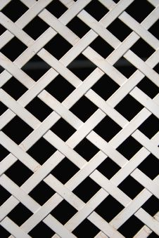 Free White Metal Lattice Stock Photos - 15524113