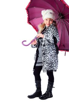 Free Girl With Umbrella Stock Photo - 15524300