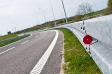 Curve On Asphalt Highway Stock Image