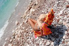 Free Quiet Moments On A Rocky Adriatic Beach Stock Photos - 15524713