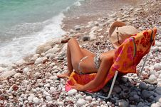 Free Quiet Moments On A Rocky Adriatic Beach Stock Photography - 15524752