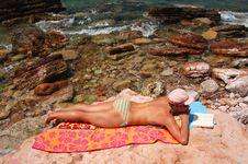 Free Sunbathing In Montenegro Royalty Free Stock Photos - 15524768