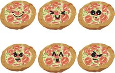 Free Fast Food Faces - Pizza Royalty Free Stock Images - 15524779