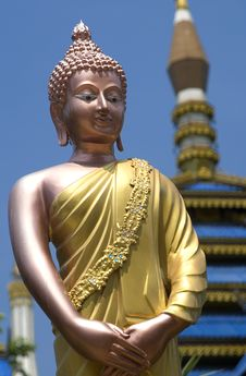 Free Standing Buddha Figure Thailand Royalty Free Stock Photography - 15524897