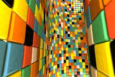 Free Wall Of Mosaic Royalty Free Stock Photography - 15525147