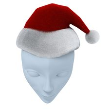 Free Theatrical Mask And Santa S Hat Royalty Free Stock Images - 15525379
