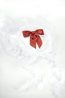 Free Wedding Veil And Pillow Ring With Title Space Stock Photos - 15526473