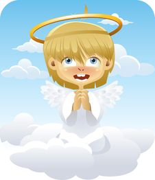 Free Angel On A Cloud Stock Photography - 15526572