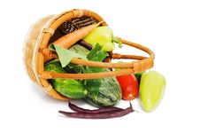 Free Wattled Basket With Vegetables Stock Photo - 15526970