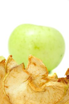 Dried And Fresh Apples Royalty Free Stock Photos