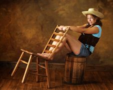 Cowgirl Teen Stock Images