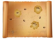 Free Old Treasure Map Stock Images - 15528934