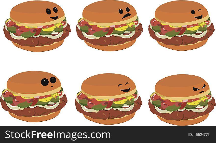 Fast Food Faces - Hamburger