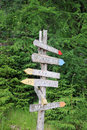 Free Signpost On Nature Trail In Norway Royalty Free Stock Photo - 15532365