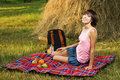 Free Lovely Girl On Picnic Stock Photography - 15539492