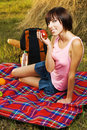 Free Lovely Girl On Picnic Royalty Free Stock Photography - 15539497