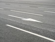 Free Road Markings Arrow Stock Photo - 15530450