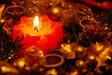 Free New Year  Candle Decoration Royalty Free Stock Photos - 15530618
